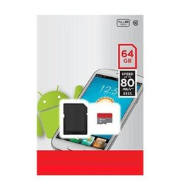 Wholesale Android Robots - 64GB 32GB 16GB 128GB 256GB White Version Android Robot Class 10 64GB 32GB 16GB C10 Micro SD TF Memory Card 80mb s Retail Package