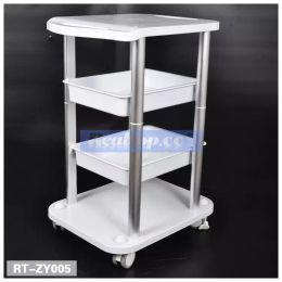 Wholesale Machine Trolley - Two Shelf ABS Pedestal Rolling Cart Salon Stand Trolley Styling Spa Salon Cart for Ultrasonic Cavitation RF HIFU Face Lifting Machine