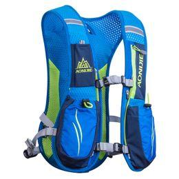 Zaini idratanti per l'esecuzione online-Outdoor Unisex Lightweight Running Backpack Sports Trail Racing Marathon Hiking Fitness Bag Hydration Vest Pack J2