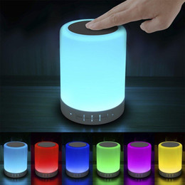Wholesale Christmas Lights For Outdoors - Touch Bedside Lamp - with Bluetooth Speaker, Dimmable Color Night Light, Outdoor Table Lamp with Smart Touch Control, for Kids Sleeping Aid