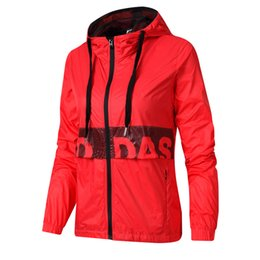 womens sweater noël rouge Promotion Manteau coupe-vent femme à capuche coupe-vent à capuche coupe décontractée Sportswear Sports Patchwork Zipper Girl Fashion Slim Bleu Vert