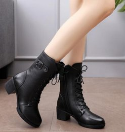 28b7b28d9a39 Fashion Women Winter Leather Shoes Womens Mid-Calf Boots Sewing Genuine  Leather