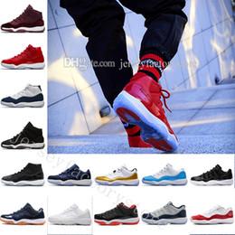 Massagem meninos negros on-line-Barato 11 GG Herdeira Preto Stingray Metálico Ouro PRM Mulheres Homens Sapatos de Basquete Sneakers Meninas Menino 11 s Cesta Bola Esporte Formadores EUA 5.5-13