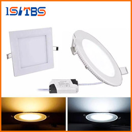Wholesale Led Downlights Dimmable - panel lights Dimmable 3W 9W 12W 15W 18W 21W CREE Led Recessed Downlights Lamp Warm Natural Cool White Super-Thin Led Panel Lights Round
