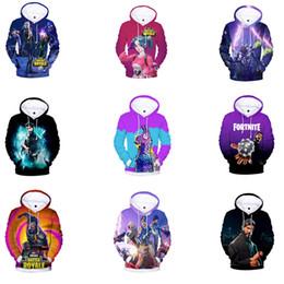 2019 niños de pintura de arena Juego de 30 colores Sudadera con capucha de impresión 3D Hombres Mujeres Batalla Real Sudadera divertida Hip Hop Sudadera Tops Niñas Abrigos