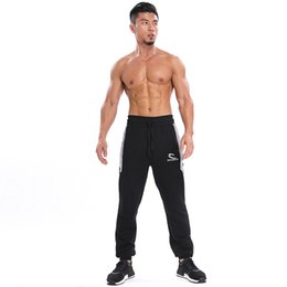 Wholesale Men Fitness Apparel - 2018 High Quality Jogger Trousers Bodybuilding Fitness Gyms Pants apparel Clothing Autumn Sweatpants Men Gyms Pants
