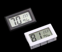 Argentina FY-11 negro / blanco integrado Termómetro digital Higrómetro Medidor Temperatura Humedad Medidor Frigorífico Congelador -50-70C 10% RH ~ 99% RH Suministro