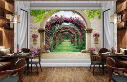 Wholesale Roses Wallpaper Home Decor - Photo wallpaper custom 3d stereoscope rose window murals 3d wall murals art mural decor home Wallpaper