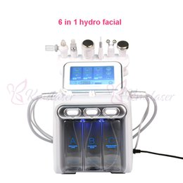 rf machine facial skin rejuvenation Promo Codes - 6 in 1 hydradermabrasion+skin scrubber+RF+cooling hammer+ultrasonic+oxygen spray spa facial machine