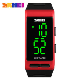 bd6a83fc816 DHL SKMEI Sport Digital Women Watch Fashion Casual Waterproof Lady  Wristwatch PU Strap Alarm Week Display Watches Relogio Feminino 1364