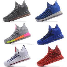 Wholesale kd kids - Free shipping KD 9 Elite Time to Shine Basketball Shoes mens kids KD 9 Elite Time Gray Sneakers Size us 7-12