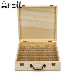 Wholesale Eco Friendly Nail Polish - 66 Slots Wooden Essential Oil Bottles Box Storage Case Organizer Aromatherapy Display High Capacity Nail Polish Carrying Holder