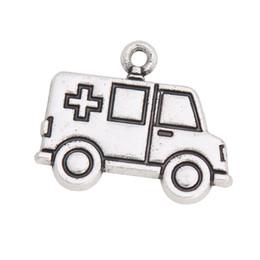 Canada En alliage de gros Ambulance Vintage forme de voiture Charms Infirmière médicale Doctor Theme Jewlery Charms 18 * 22mm AAC1053 Offre