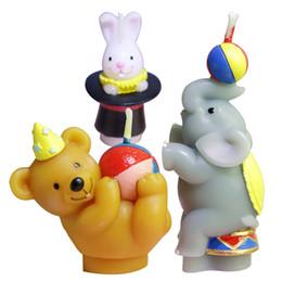 Clignotant jouet bougie magique Creative anniversaire bougie forme animale sans fumée bougie cuisson gâteau décoration ours lion éléphant ? partir de fabricateur
