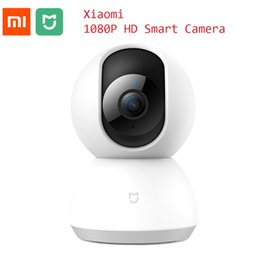 Wifi wireless ip-camcorder online-Xiaomi Mijia 1080P Smart IP Kamera Camcorder 360 Grad WIFI Wireless Nachtsicht Kamera Home Security Baby Monitor PK Dafang