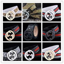Wholesale Leather Belt For Boys - letter buckle belt exquisite luxury brand designer Fashion belts for men cinto masculino genuine leather male belt Cowskin ceinture homme.