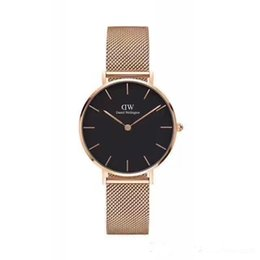 Relojes impermeables dama online-2018 Daniel 32MM Fashion Gold Lady Clock Minimalism Simple elegante lujo Casual Women Watches impermeable vestido reloj de pulsera para mujer