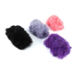 Canada Long Plush Warm Steering Wheel Cover Handle Sleeves Woolen Handbrake Car Accessory Pink Purple  Black Gray High Quality Offre