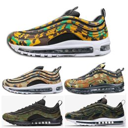 Wholesale limited run - 2018 OG 97 Bullet Camouflage Running Shoes Premiu QS Limited Designer Fashion Casual Shoe Sport Sneakers Outdoor Trainers Double Boxed