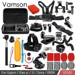kits de limpeza de lentes de câmera Desconto Vamson acessórios para xiaomi yi 4 k 4 set à prova d 'água para gopro hero 6 5 4 3 para sjcam sj4000 soocoo action camera vs101