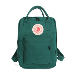 Wholesale Monkey Backpacks - Summer New Japan and South Korea Department of Monkey Badge Canvas College Wind Book Backpack Travel Leisure Schoolbag
