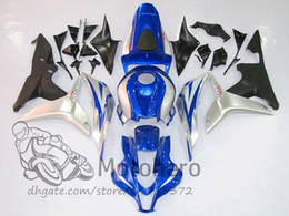 Wholesale honda fit silver - New ABS Blue Silver motorbike fairing kits fit for Honda 2007 2008 CBR600RR F5 07 08 good plastic fairings motorcycle bodywork set H215