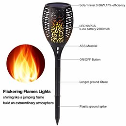Wholesale Garden Torches - Solar Torch Lights Outdoor LED Tiki Lamp Flickering with Realistic Dancing Flame, Dusk-Dawn Landscape Decoration Lights for Garden Patio Dec
