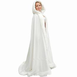 2018 blanco de la boda de las mujeres Cape Cabo nupcial Chaqueta Chales Wrap Shawl Party largo Wraps Chaqueta Capas largas Accesorios de la boda Chaquetas de boda QC1104 desde fabricantes