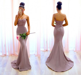 Wholesale High Quality Charming Light Pink - Charming 2018 Dusty Pink Prom Dresses Spaghetti Straps Lace Applique Beaded Floor Length Formal Evening Party Gowns High Quality Cheap