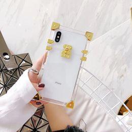 Wholesale iphone big case - Luxury detachable Metal Box Big Brand cover cases for iphone 6 6plus 7 7plus mobile phone wallet case for iphone X 8 8plus