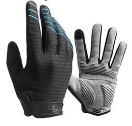 Longo dedo ciclismo luvas on-line-Cycling Gloves Full Finger Sport Shockproof MTB Bike Touch Screen Gloves Man Woman Bicycle Sponge Long Finger Glove