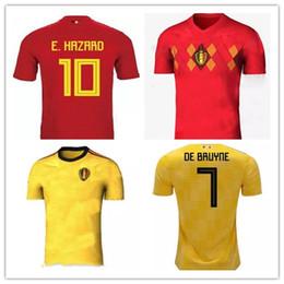 Belgium soccer jersey 2018 World Cup Home Away R.LUKAKU FELLAINI E.HAZARD  KOMPANY DE BRUYNE Soccer Jersey 18 19 Belgium football shirts belgium soccer  ... b9e9efe14