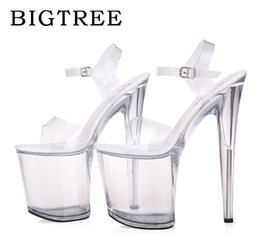 Wholesale fish tie - Women Shoes High Quality Female Model T Station Catwalk Sexy Crystal Transparent Shoes 10CM High Heels Fish Head Sandals