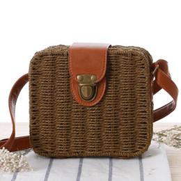 Wholesale Bras Travel Box - Korean version of the rampage straw woven small box fashion bra small fresh simple travel beach leisure package