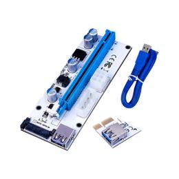 Wholesale Pci E Power Cable - PCI-E Riser PCI E Express 1X to 16X Riser Card 60CM USB 3.0 PCI-E SATA to 6Pin Power Cable for BTC Bitcoin Mining Antminer Miner