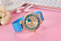Wholesale Quartz Hearts - New Soft PVC Rubber fashion 2018 women ladies double love heart watch wholesale lady casual dress quartz quartz watches