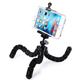 Iphone más trípode online-MINI Soporte para trípode universal Soporte para trípode flexible para iPhone X 8 7 6 6S plus para Samsung Note 8 s8 plus s7 edge