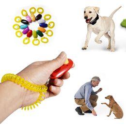 collari di cane scioccante Sconti Universal Dog Remote Sound Clicker Portable Animal Dog Button Clicker Trainer Pet strumento di controllo degli attrezzi da polso da polso accessorio