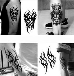 waterproof eagle eye Promo Codes - Waterproof Temporary Tattoo Men's Fire Tatoo Eagle Eye Flame Totem Water Transfer Fake Tatto For Man