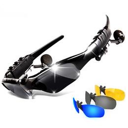 Deutschland Sport Drahtlose Bluetooth Headset bunte Sun Objektiv Kopfhörer Sonnenbrillen Reitbrille mit Freisprecheinrichtung Antwort Anruf MP3-Player cheap colorful bluetooth earphones Versorgung