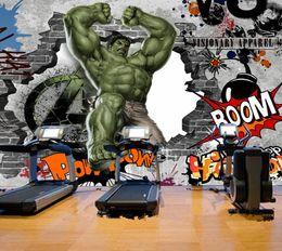 Avengers Photo Papier Peint Personnalisé 3D Hulk Papier Peint Graffiti Mur Mural Enfants Chambre Salon Bureau TV Toile de Fond Super Héros décor ? partir de fabricateur
