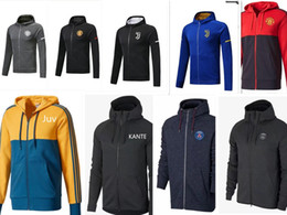 Wholesale Track Suits Jackets - ajax Track suit 2017 2018 mens clothing Soccer Tracksuit RONALDO JAMES MULLER LEWANDOWSKI milan jacket FULL ZIPPER mens Hoodies Training