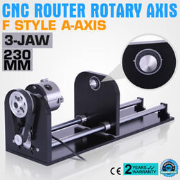 Wholesale axis accessories - CNC ROUTER ACCESSORY F STYLE A-AXIS ROTARY AXIS WITH 80MM 3-JAW 230MM TRACK Co2 Laser Engraving Machine with 80mm Accessory