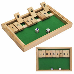 Wholesale Pub Games - Classic Shut The Box Wooden Board Game Dice Pub Family Kids Toy Christmas Gift Educational Toys Best Gift For Children Kids