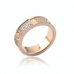 Wholesale Screw Jewelry - Fashion jewerly 316L Titanium Steel 18K gold plated Gold screw love Ring For Women wedding Rings Rose Gold Fine jewelry