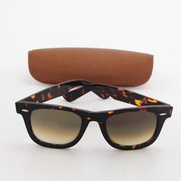 Caja de tortuga online-Envío gratis de calidad superior para hombre para mujer diseñador de la marca Vassl tortuga marco marrón gradiente gafas de sol 50 mm UV400 gafas de sol con caja