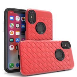 Wholesale Premium Covers - Premium Woven Pattern PC TPU Hybrid Full Cover Protective Ultra Slim Soft Case For LG Lv5 K20 Stylo3 Plus Aristo 2 ZTE Blade Z982