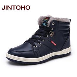 528eb6228c7c JINTOHO Winter Männer Mode Leder Stiefel Casual Männer Leder Mokassin Marke  Winter Schuhe Stiefeletten Billig Cowboy