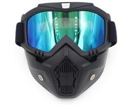 2019 fahrrad 18 zoll 18 Neue Ski Bike Motorrad Gesichtsmaske Goggles Motocross Motorrad Motor Offenes Gesicht Abnehmbare Goggle Helme Vintage Brille Universal günstig fahrrad 18 zoll