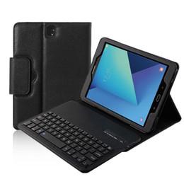Wholesale bluetooth keyboard galaxy - Smart Detachable Wireless Bluetooth Keyboard Cover for Samsung Galaxy Tab S3 9.7 inch T820 T825 Tablet